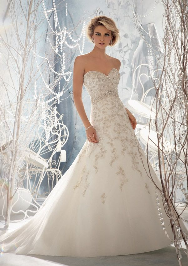 Bridal Gown From Mori Lee By Madeline Gardner Dress Style 1961 Embroidery  on Net with Crystal Beading - 487 Best Wedding Dresses Images On Pinterest Wedding Dressses