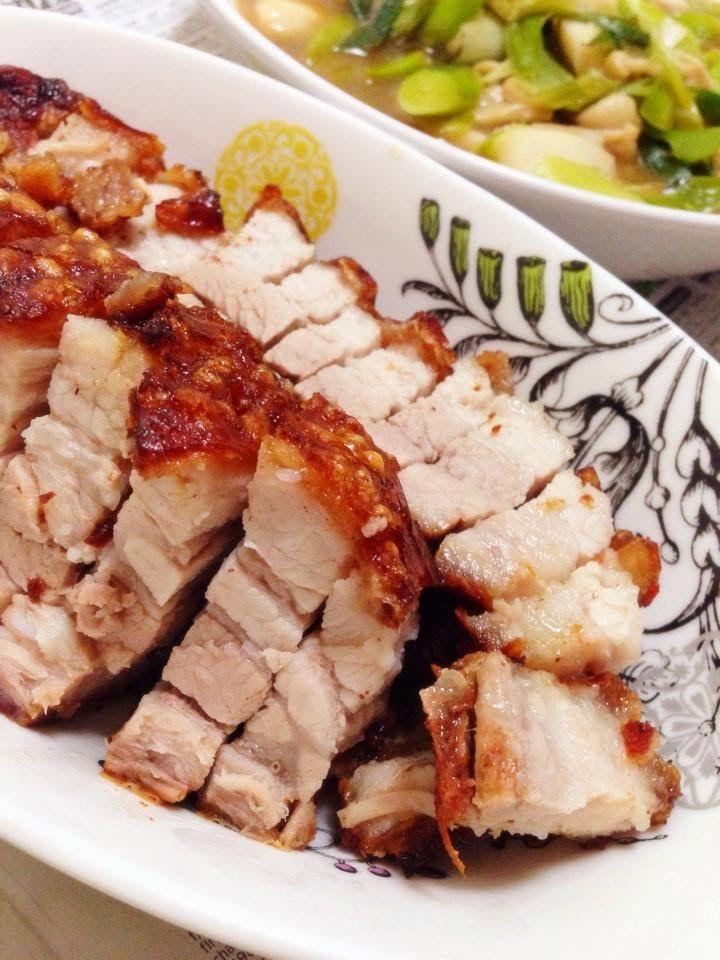 Air fried roasted pork