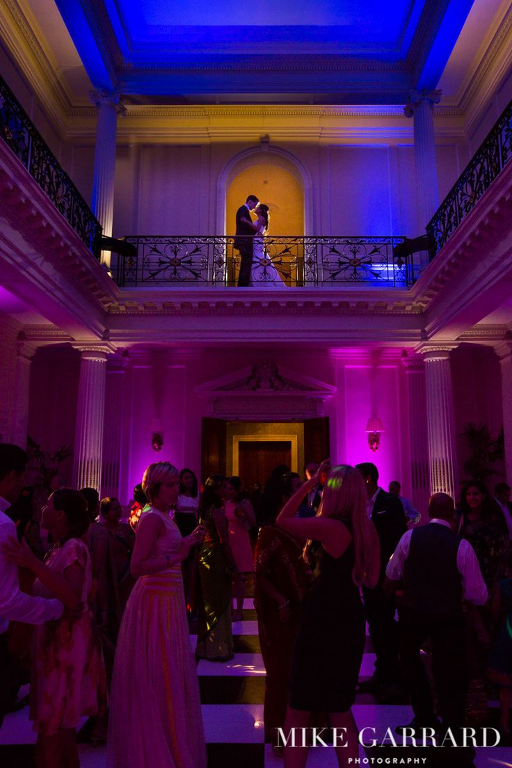 Wedding reception dancing and celebrations at Hedsor House.