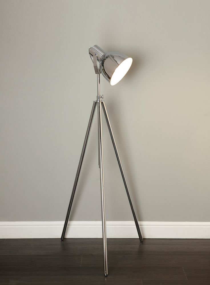 Chad Chrome Floor Lamp - View All Lighting & Bulbs - Home, Lighting & Furniture - BHS