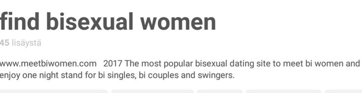 apparently we bi ppl can only be one night stands nice (I mean this literally says DATING site like you'd think they'd mention this thing called relationships but nah we dont do those we're only here to have sex with your wife and fulfill your lesbian fantasy