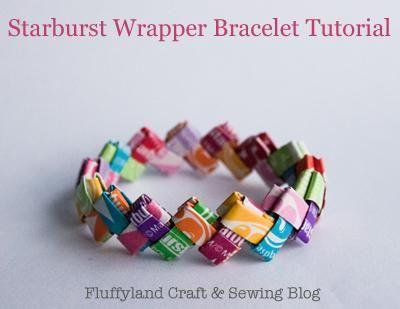 DIY Starburst Wrapper Bracelet DIY Origami DIY Craft