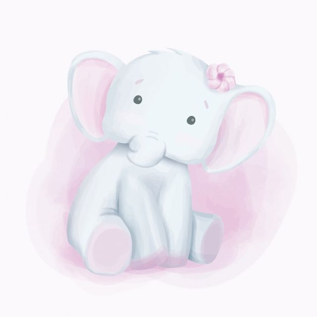 Elephant Curious Look Watercolor Adorable Animal Art Shower Png And Vector With Transparent Background For Free Download Cartoon Elephant Baby Elephant Cute Elephant