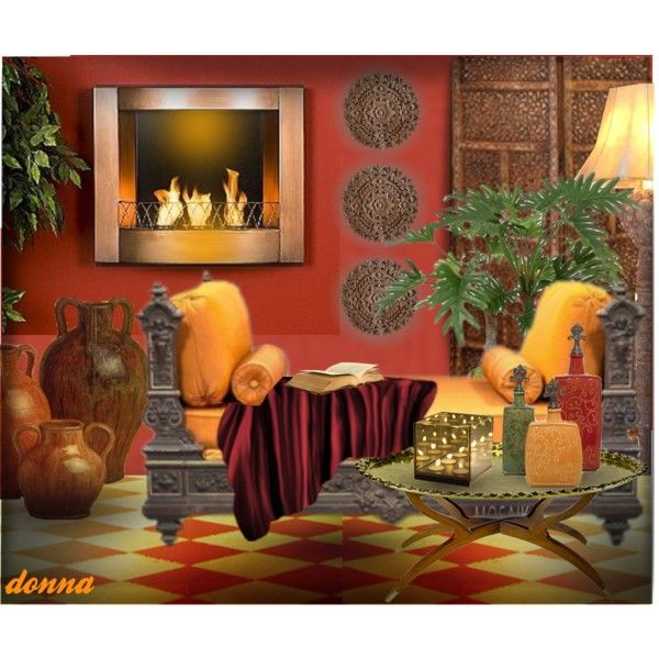 Moroccan/Arabian Inspired Room By Green Crafts On Polyvore Featuring  Interior, Interiors,