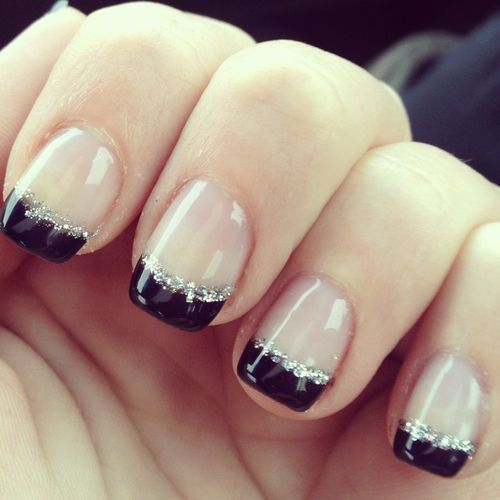 I did black tips once before and it looked horrible... maybe with the silver stripe it wouldn't be so weird-looking :P