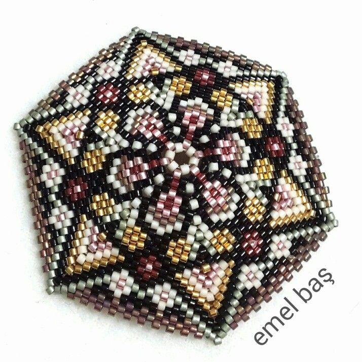 Hexagon pendant by Emel Bas from Turkey
