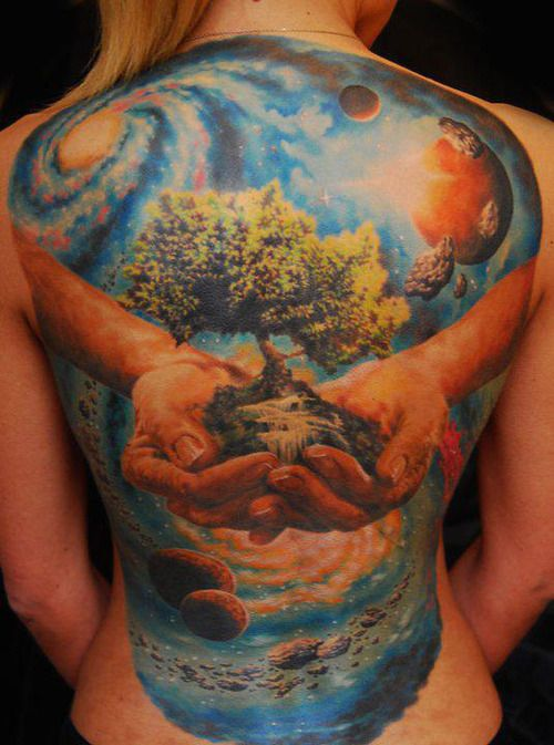 _ full back tattoo by den yakovlev _