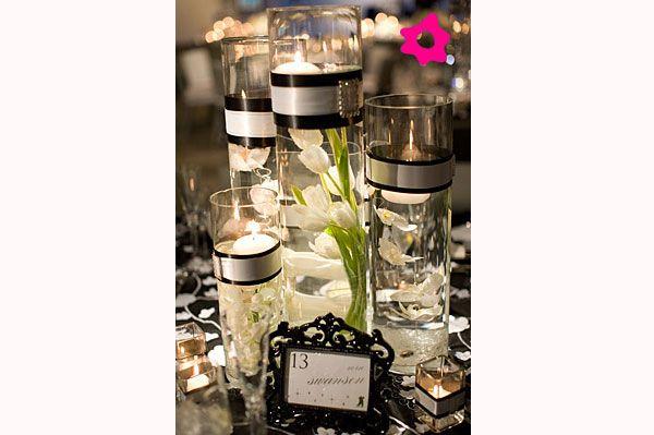 Enfeite de mesa em vidro