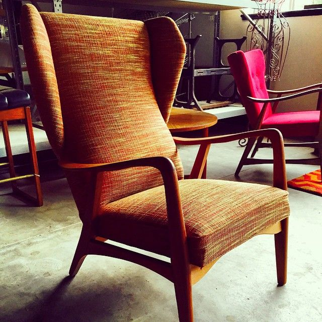 Check out this rare wingback by Danish Deluxe that we just restored. It came up a treat!! The customer hasn't seen it yet, I think they will be very happy.#designer #retro #spotswood #thewestsider #chair #vintage #homedecor #interiordesign