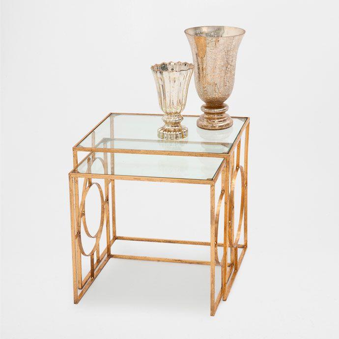 Tables c t g om trique lot de 2 meubles d 39 appoint for Table 6a of gstr 1