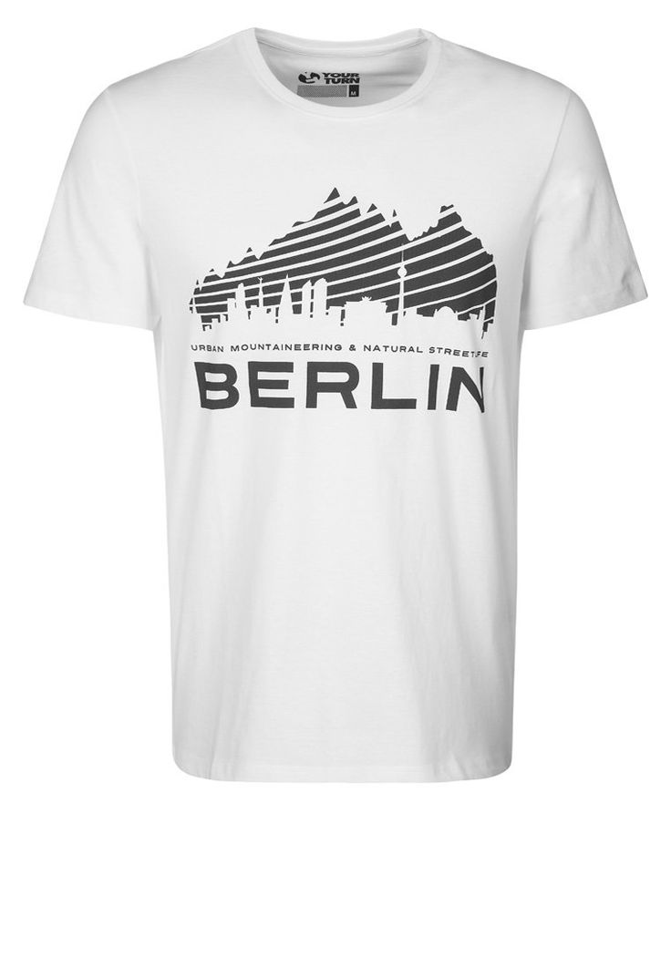 YOUR TURN - BERLIN CITY - T-shirts print - hvid