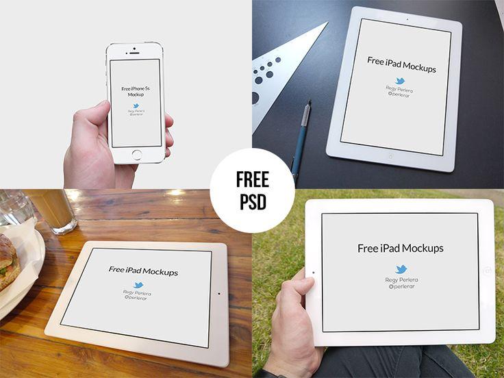 Free iPad & iPhone 5s Mockups - PSD