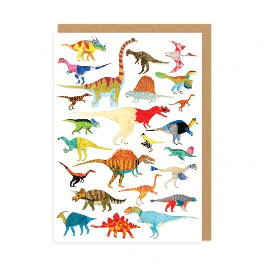 Dinosaurs! Greeting Card at http://www.ohhdeer.com