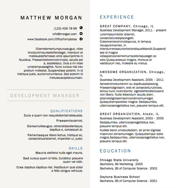 22 best CV images on Pinterest Cover letter sample, Letter - resume ms word format