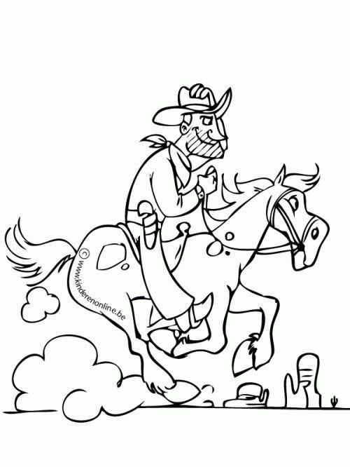 17 best images about Cowboys Kleurplaten