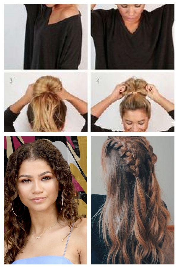 Lange Haarmodelle Einfache Und Einfache Diy Frisuren Messy Bun Uncategorized Easyhairstylesforteens Hair Styles Beauty Hair