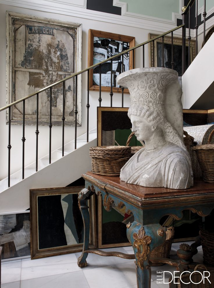 a plaster bust from the cole des beaux arts in paris is displayed in the