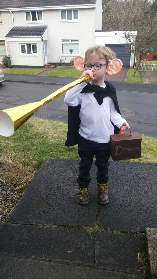 BFG costume. World book day 2016. World book day costume idea. Homemade costume.