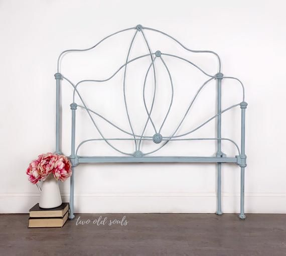 Complete Twin Size Antique Cast Wrought Iron Bed With Easy To