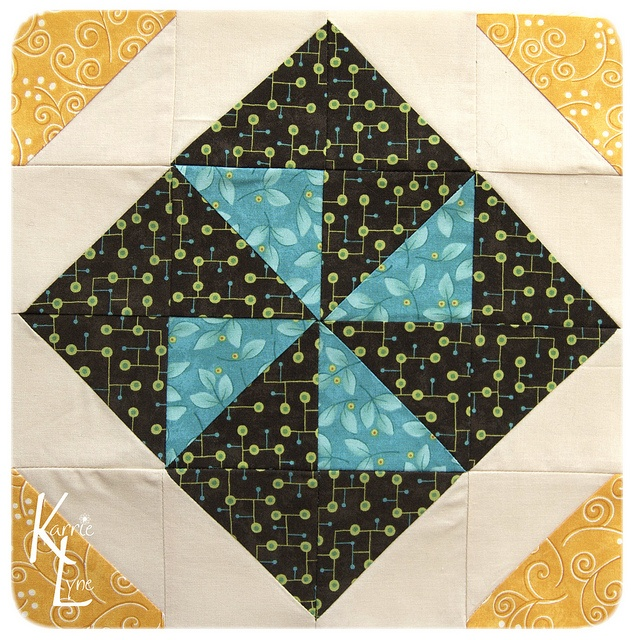 Day 103 - Extra Pinwheel Block #1 by KarrieLyne, via Flickr