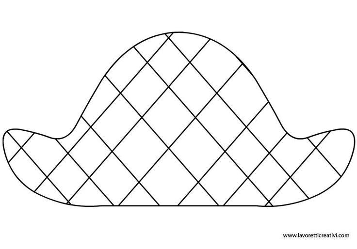 Cappello di Arlecchino da ritagliare