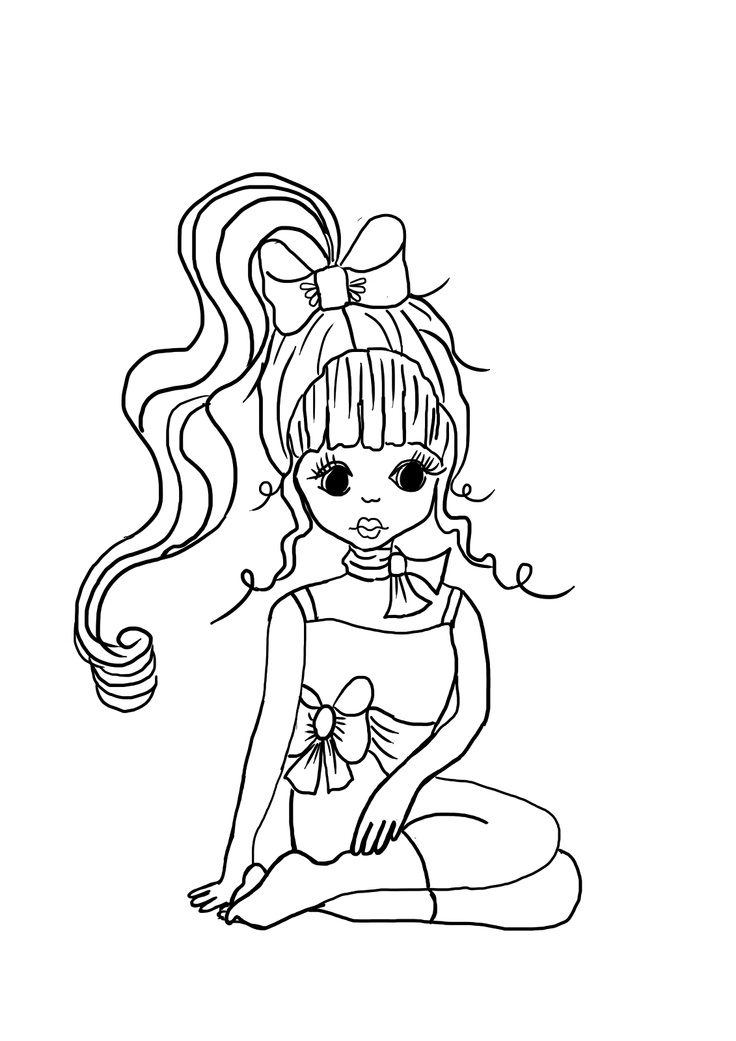 free girly coloring pages - photo#28