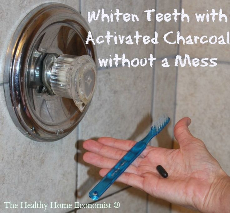 Whitening teeth with activated charcoal really works but it can make a mess!  Here's how to use it without needing to clean the bathroom and change clothes afterwards.   http://www.thehealthyhomeeconomist.com/whiten-teeth-with-activated-charcoal-without-a-mess/