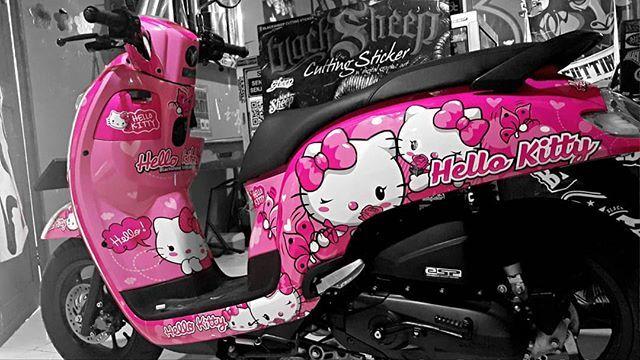 Decal Sticker New Scoopy Fi Fullset Hello Kitty Hondascoopy
