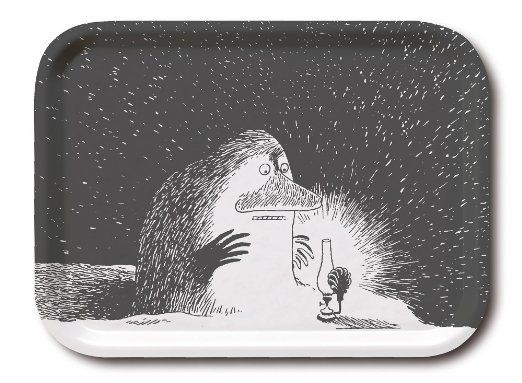 Moomin - Wooden tray -The Groke- 27x20 cm (Opto Design) [101-g]