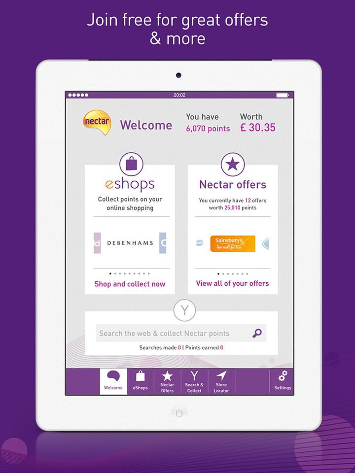 Nectar For Ipad The Loyalty Card That S Full Of Great Offers