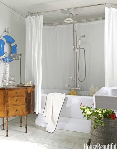 146 best images about coastal bathrooms on pinterest for Bathroom ideas nautical