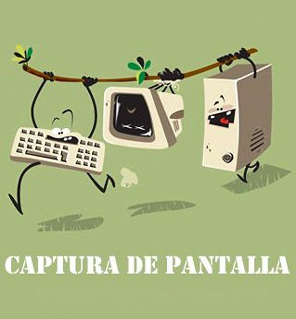 Word play on the Spanish phrase captura de pantalla. #Spanish jokes #chistes visuales