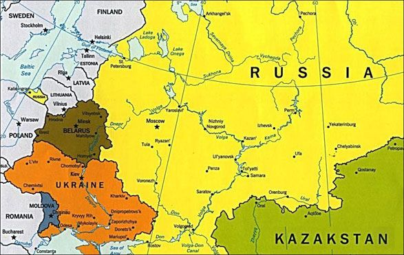 Ukraine On Map Of World
