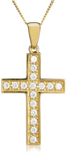 Collier Femme avec pendentif – Croix – Or jaune (9 carats) 2.4 Gr | Your #1 Source for Jewelry and Accessories