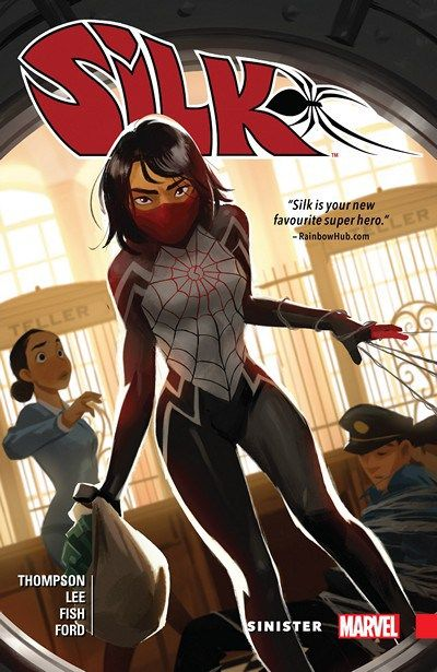 Silk Vol. 1 – Sinister (2016) // Silk is back and badder than ever! Cindy Moon - the other victim of the radioactive spider that bit Peter Parker - has been working to find the missing members of her family since she escaped the bunker that was her home for so many years. #silk #marvel #comics #volume