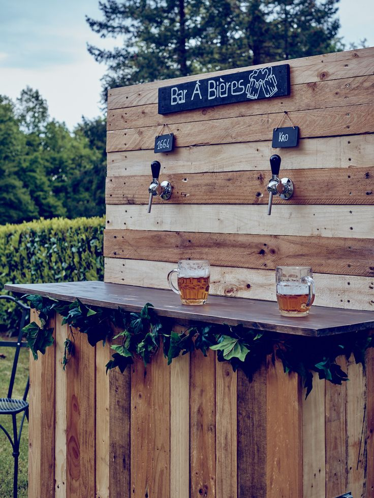 Bar à bières champêtre Velvet Rendezvous location