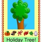 """""""HOLIDAY TREE!"""" - CELEBRATE SIX HOLIDAYS!  """"What can we hang on the Holiday Tree?  What Holiday is it going to be?""""  Make a Holiday Tree with your kids and add ornaments to it all year long!  Sing a song about friends and families, and add a new verse for each holiday.  Templates for all six Holiday Ornaments and Holiday Word Labels are included.  Easy directions on how to make the Tree on your wall!  Your room will look festive, all year.  Celebrate with Joyful Noises Express TpT!  (18…"""