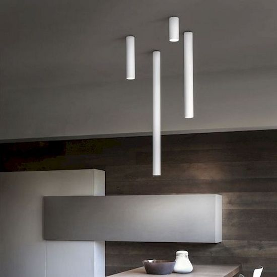 A tube ceiling light by studio italia get it at lightform ca