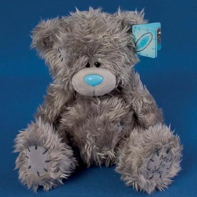 "LOST in EXMOUTH TOWN, DEVON UK Grey teddy bear with blue nose, lost near or around or behind Superdrug, between a charity shop and pastry shop. ""I've lost a grey tatty teddy with blue nose in Exmouth town, Devon at 11.30, if anyone finds it please let me know as it was a gift when my son was born x"" Contact: https://www.facebook.com/emma.rice.125"
