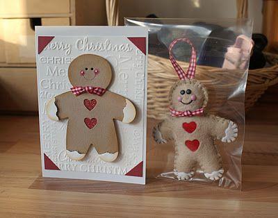 card christmas cookie cake sizzix gingerbread cookie man christmas Sizzix Gingerbread man, Card Christmas, felt sewing - kort jul julekort kagemænd honningkage mand honning kage mænd glædelig jul