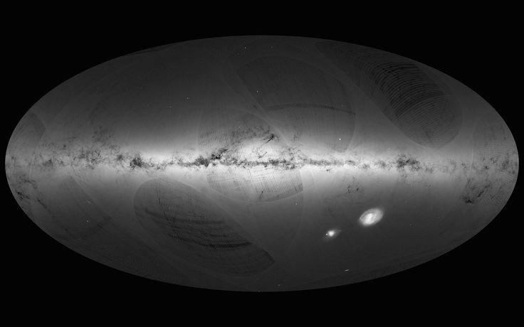 Agência divulga mapa detalhado da Via Láctea