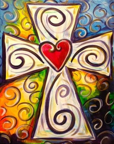 Colorful Cross painting                                                                                                                                                      More