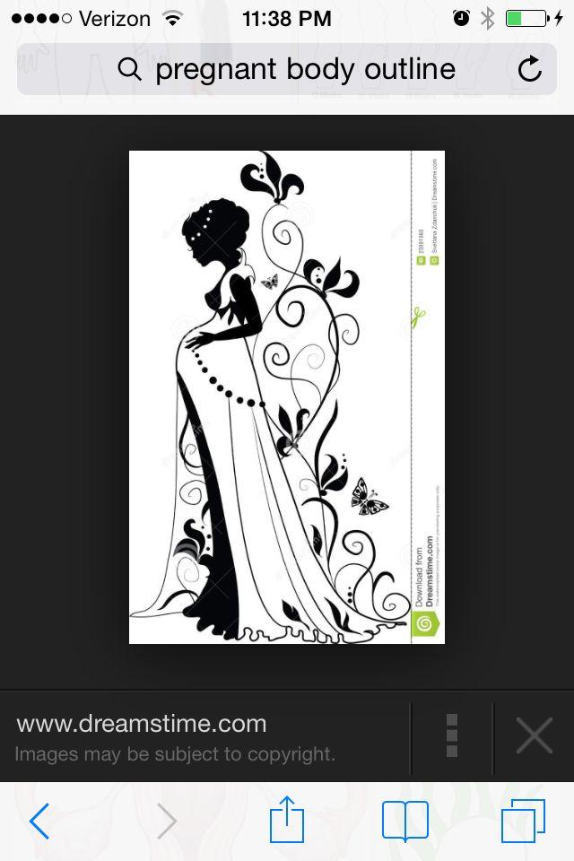 woman outline body silhouette invitations pregnant