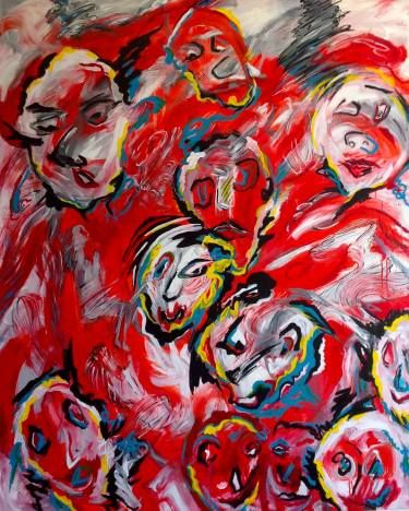 "Saatchi Art Artist Esther Ritz; Painting, ""Red Faces"" #art"