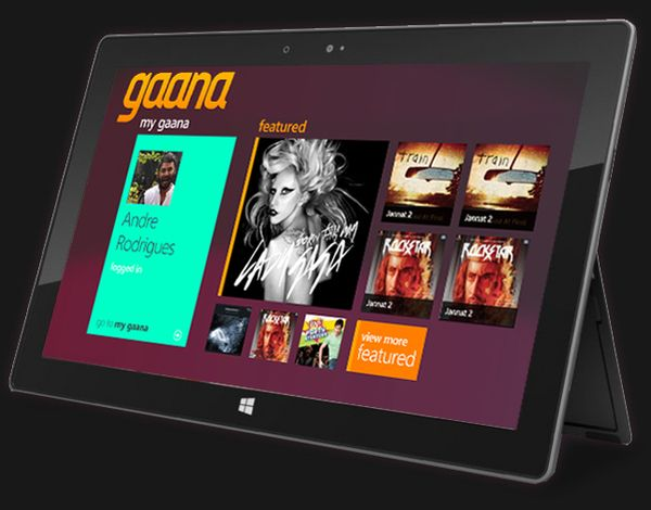 Gaana - Windows 8 App on Behance