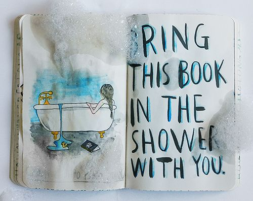 bring book in shower wtj wreck this journal