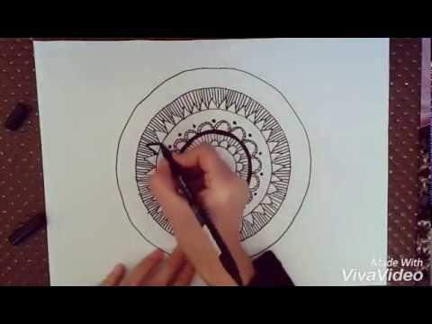 KOLAY ZENTANGLE ÇİZİMİ-2 , mandala art, kendin yap, HOW TO DRAW