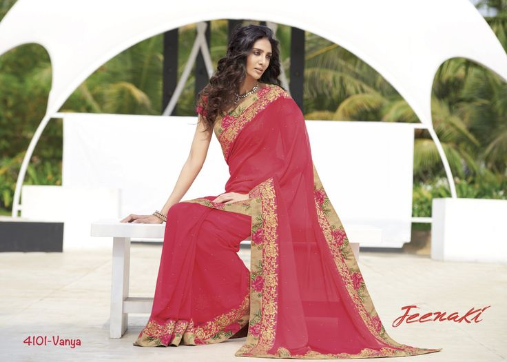 Gajri Georgette Party Wear Saree With Raw Silk Printed Work Blouse at Lalgulal.com Price :- 3,051/- inr. To Order :- http://goo.gl/CVvKNu To Order you Call or Whatsapp us on +91-95121-50402 COD & Free Shipping Available only in India.