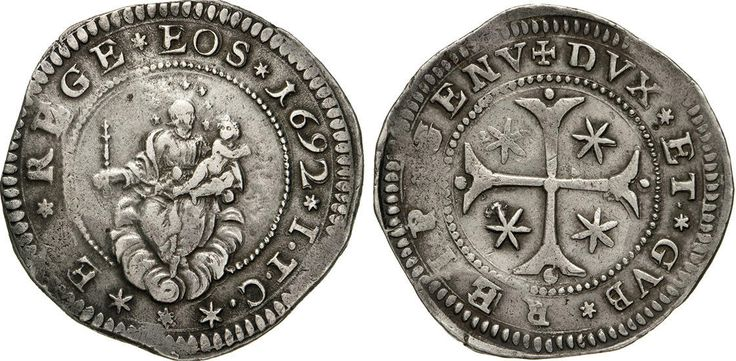 NumisBids: Numismatica Varesi s.a.s. Auction 65, Lot 394 : GENOVA - DOGI BIENNALI, III fase (1637-1797) Mezzo Scudo 1692,...