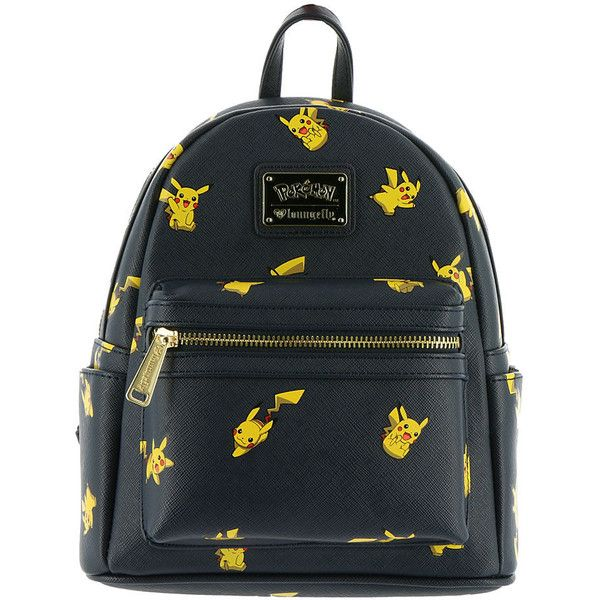 Loungefly Pokemon Mini Backpack Navy Bags No Size ($70) ❤ liked on Polyvore featuring bags, navy, knapsack bag, carryall bag, backpack bags, loungefly bags and navy blue backpack